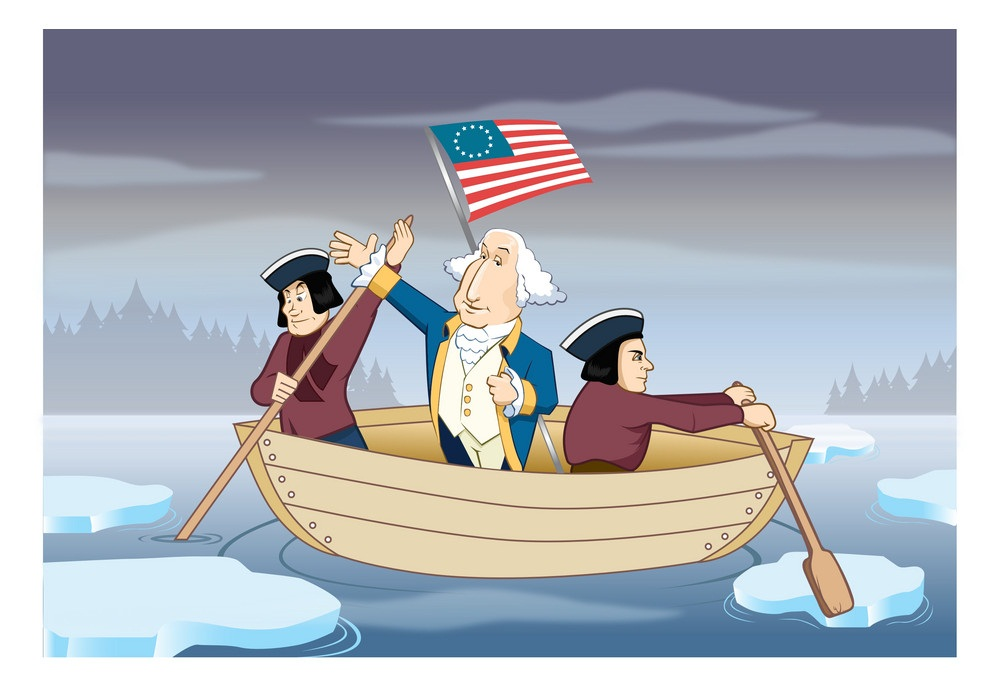 george washington on boat