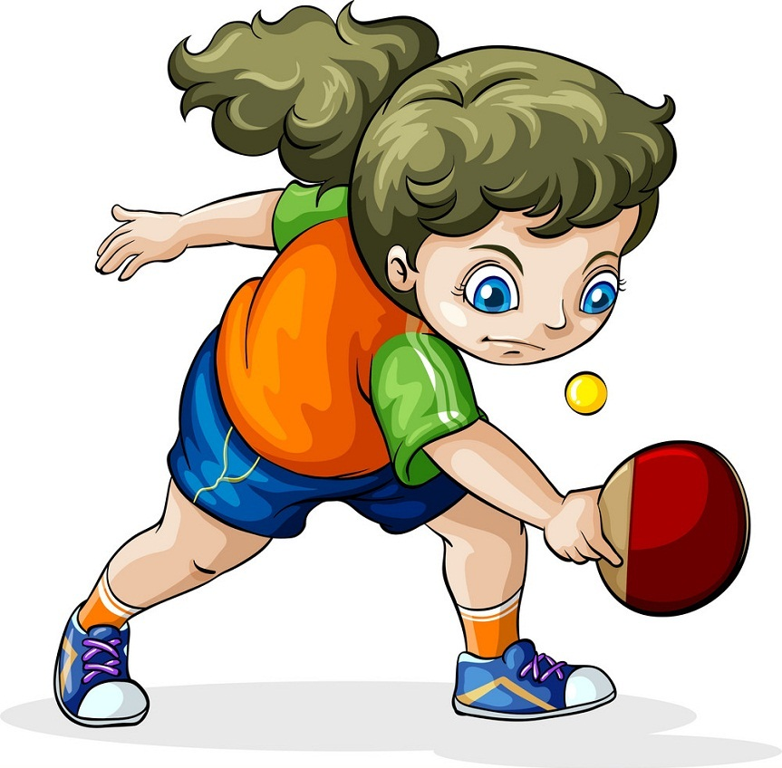 girl playing table tennis 1