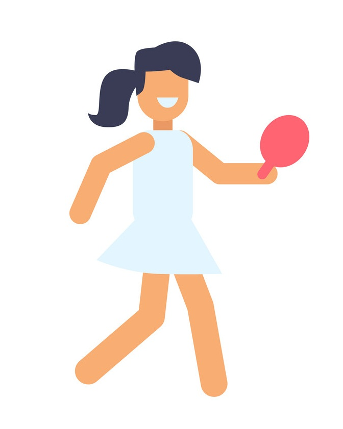girl playing tabletennis icon
