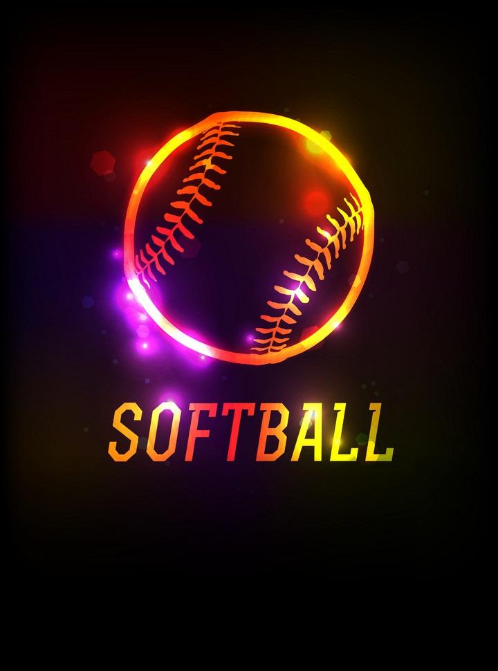 glowing softball