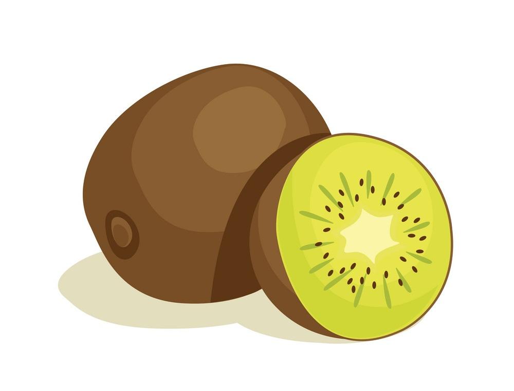 half and whole kiwi