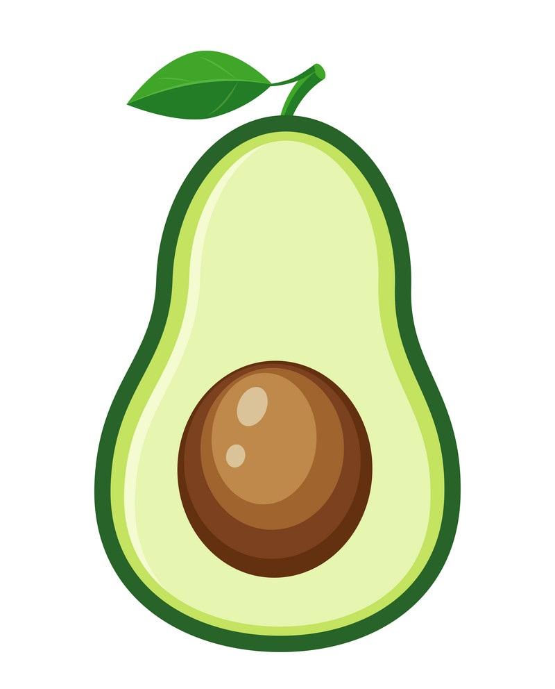 half avocado