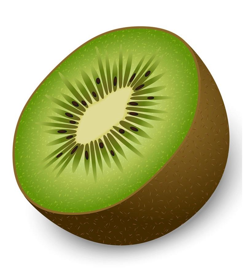 half of kiwi mockup realistic style