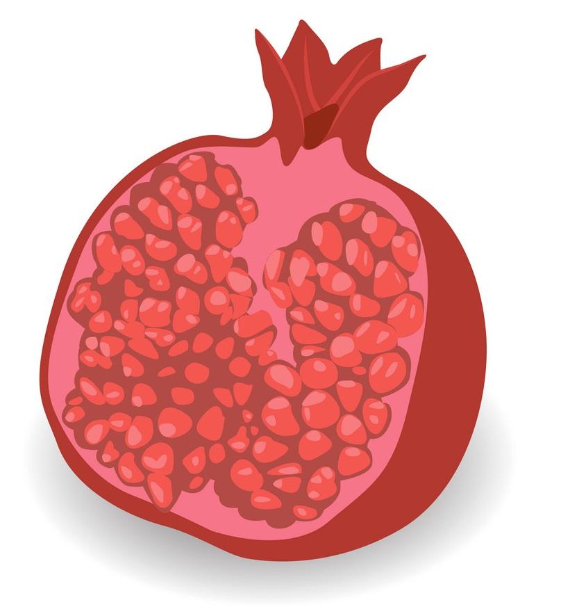 half of pommegranate