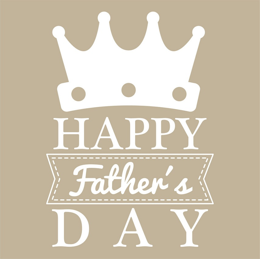 happy father's day with crown