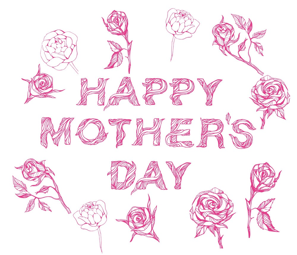 happy mother's day with flowers 1