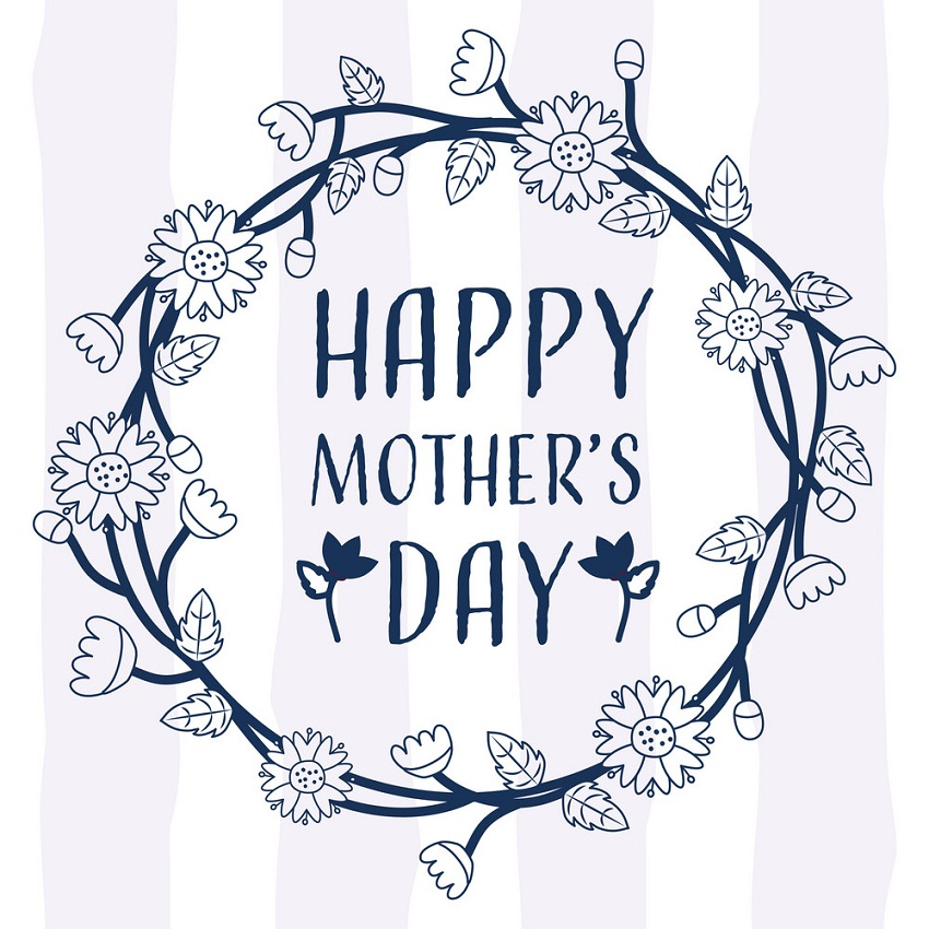 happy mothers day wreath