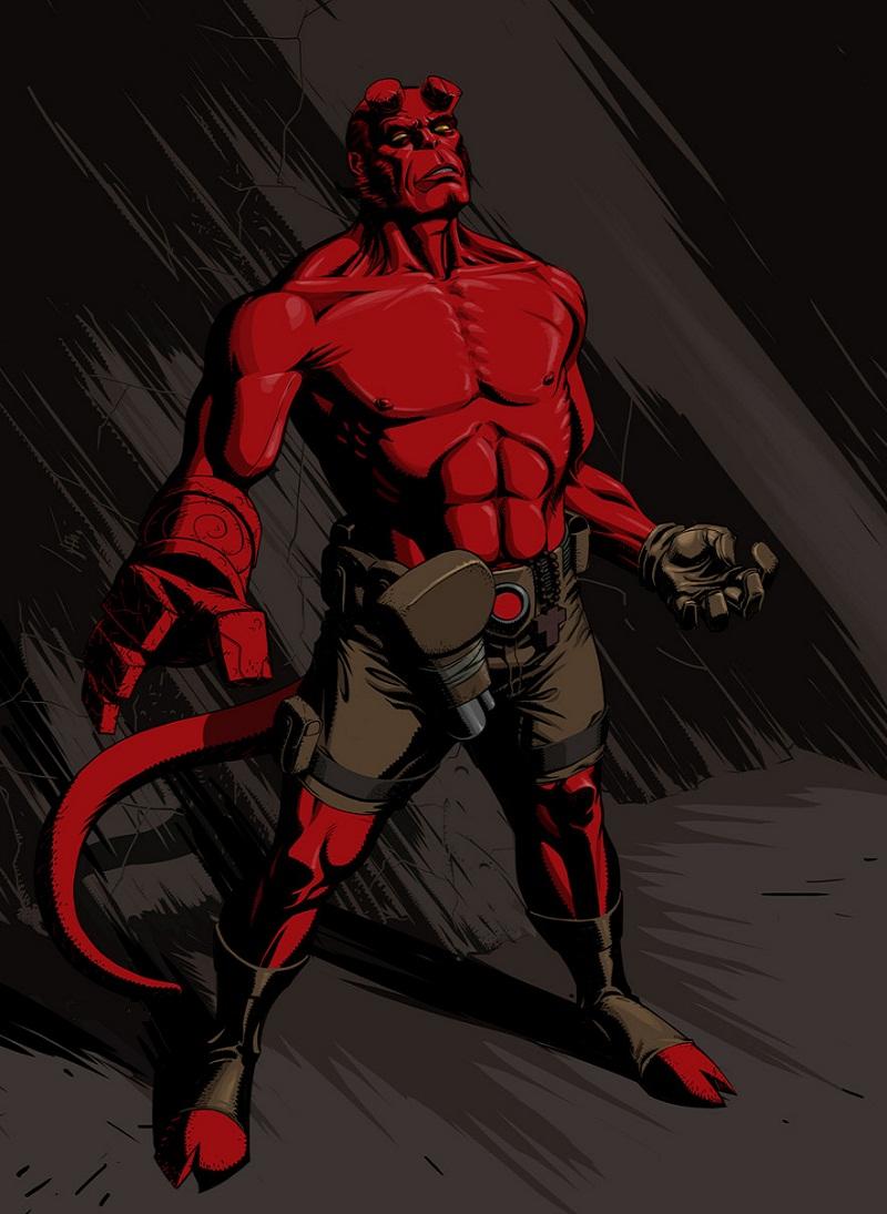 hellboy in the dark