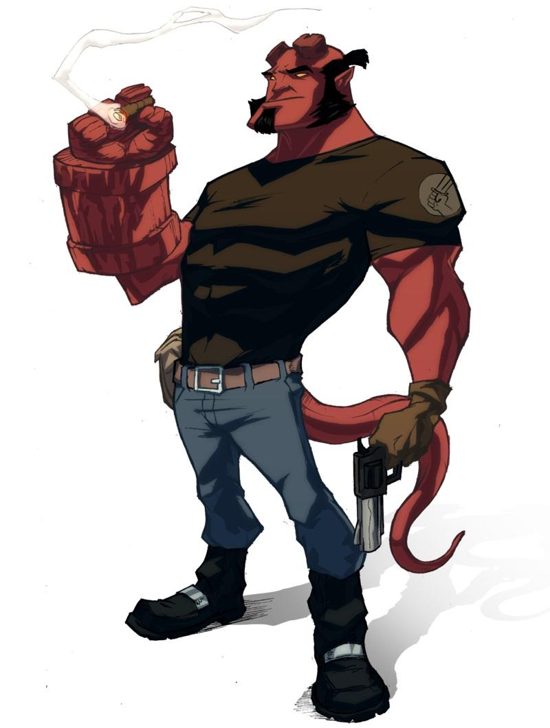 hellboy smoking