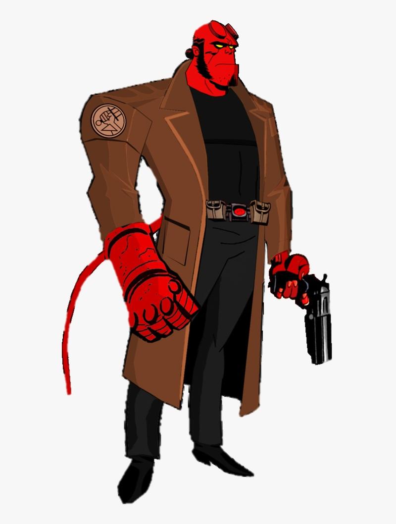 hellboy with his gun