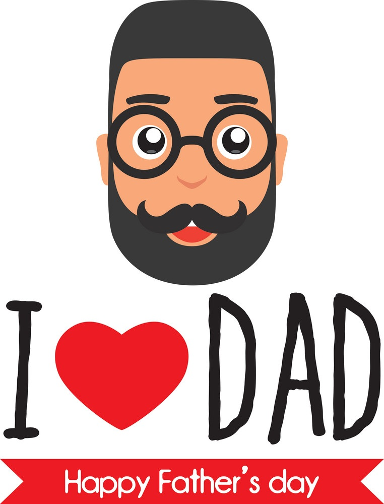 i love dad for father's day