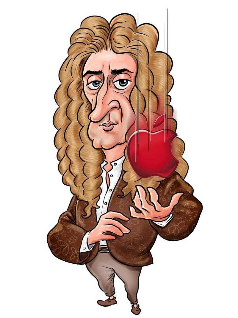 isaac newton and falling apple