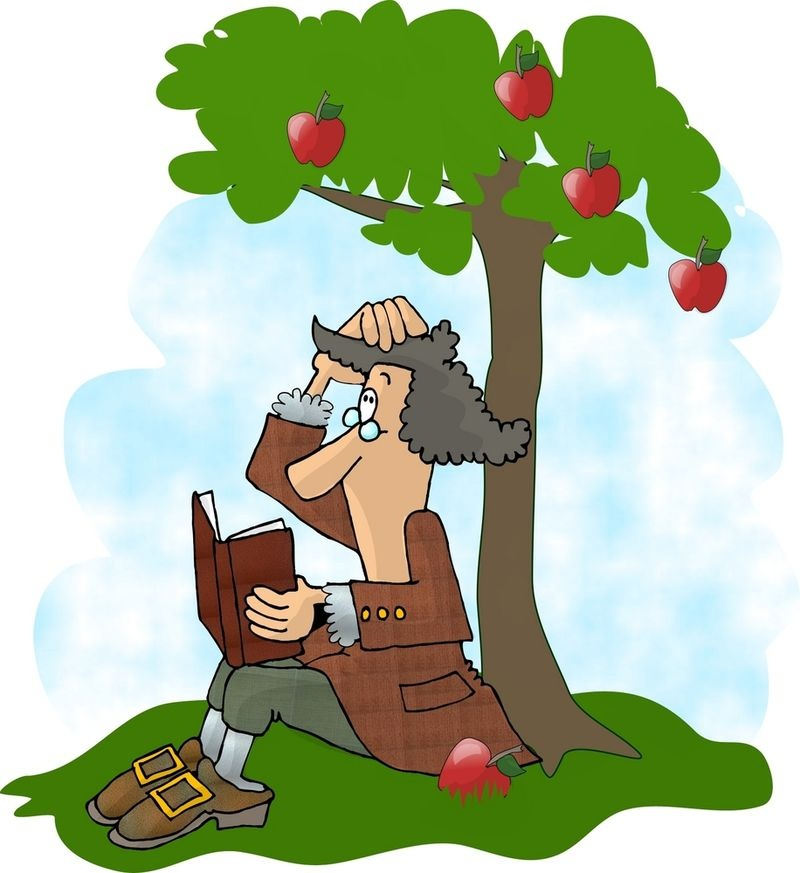isaac newton under the apple tree