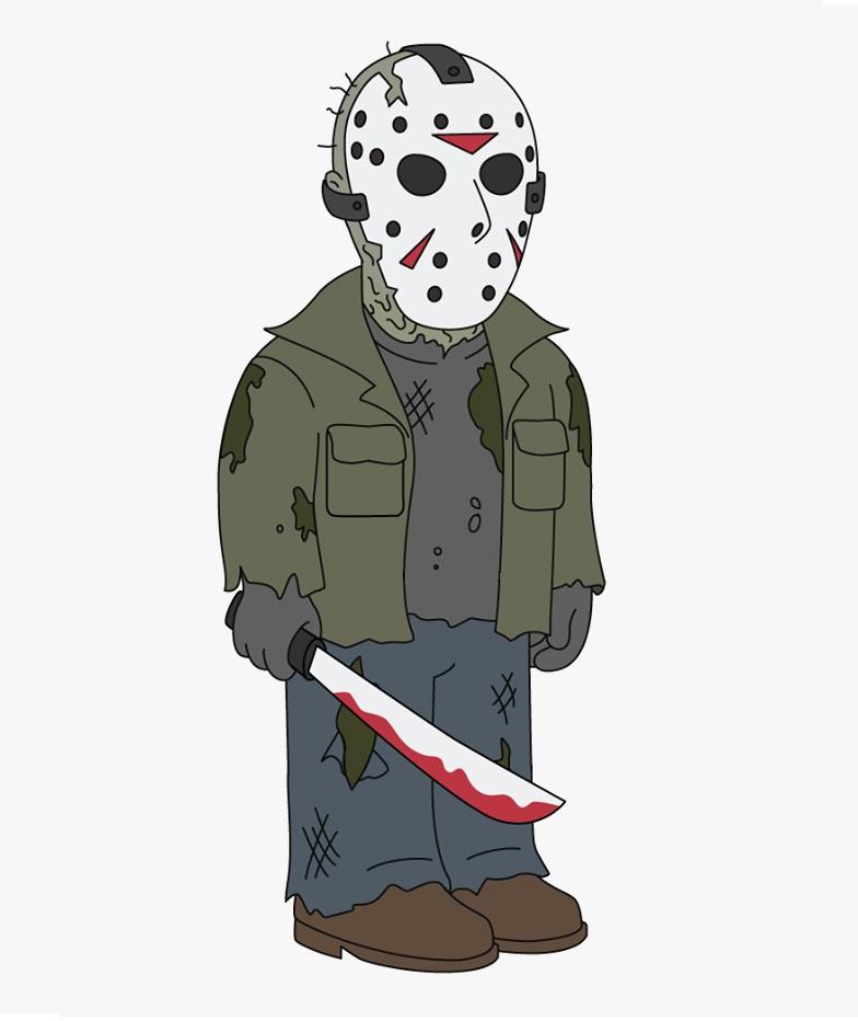 jason holding bloody machete