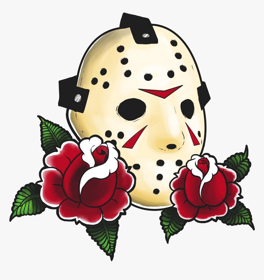 jason mask with roses