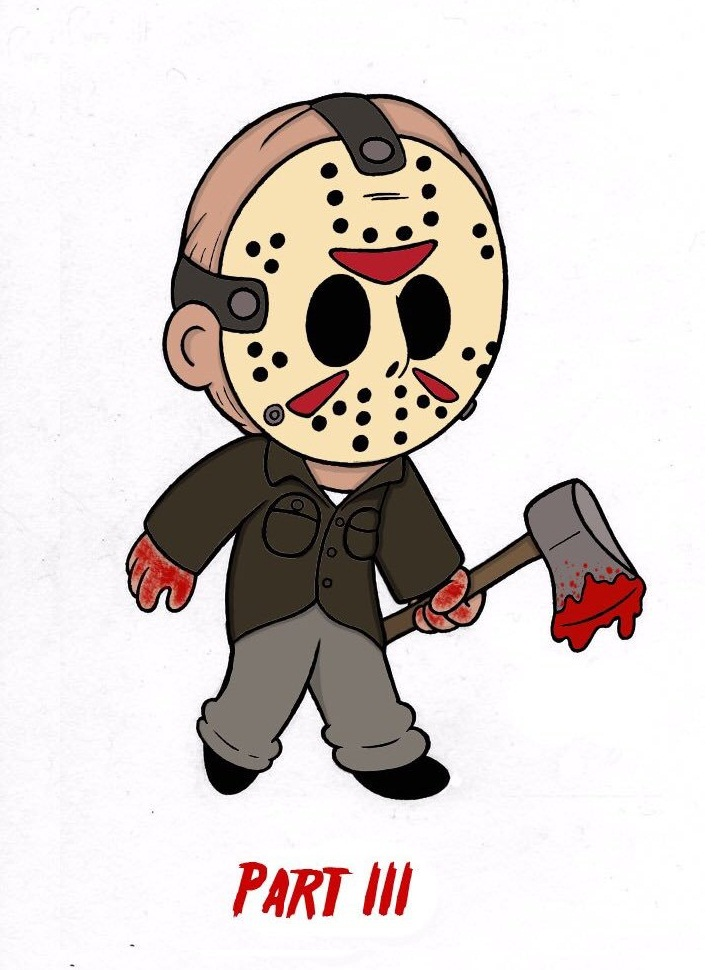 jason with bloody axe