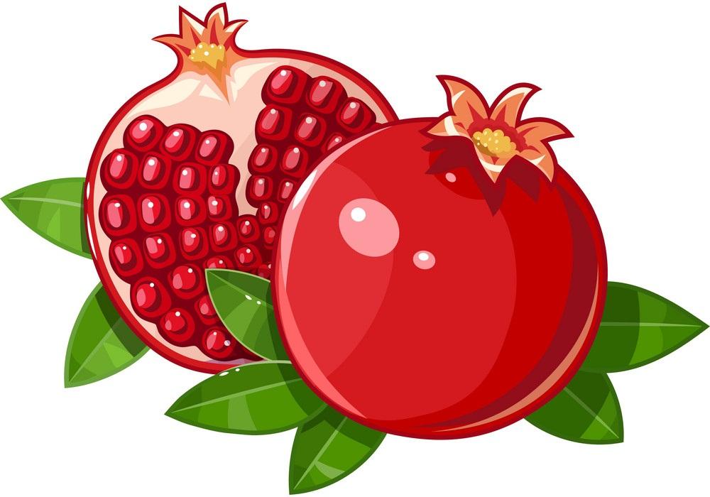juicy ripe pommegranate