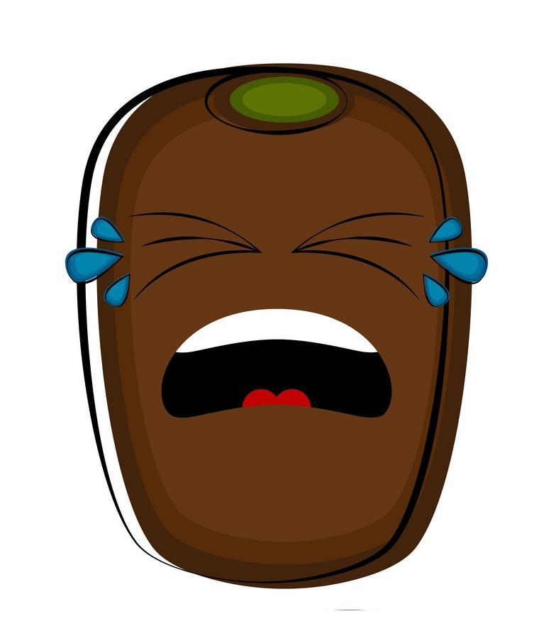 kiwi fruit crying