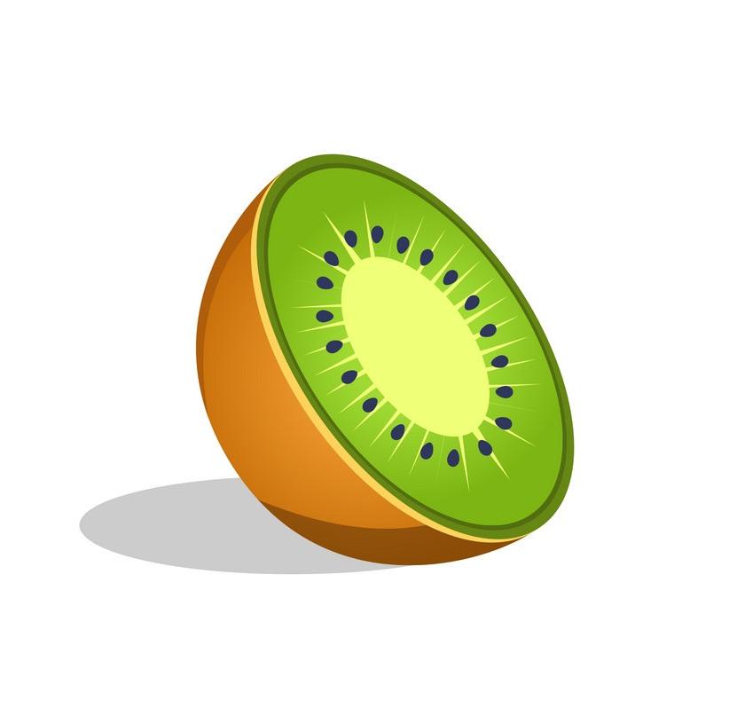 kiwi fruit cut in half icon