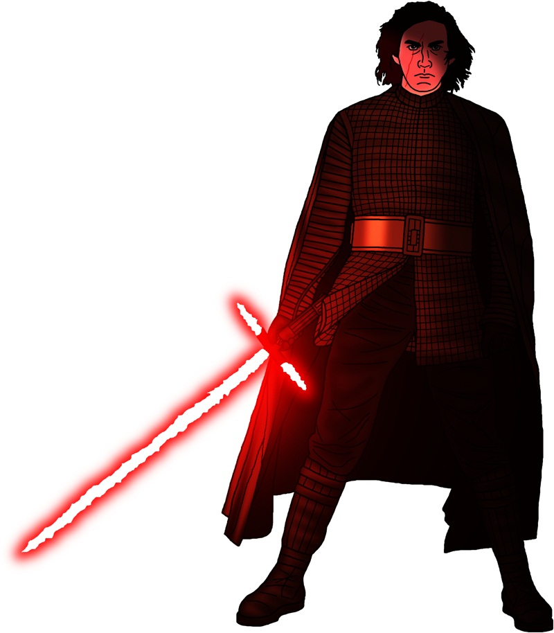 kylo ren with light saber