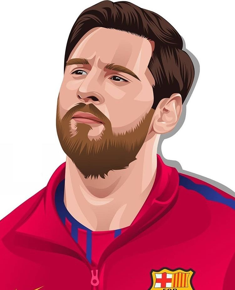 lionel messi looking