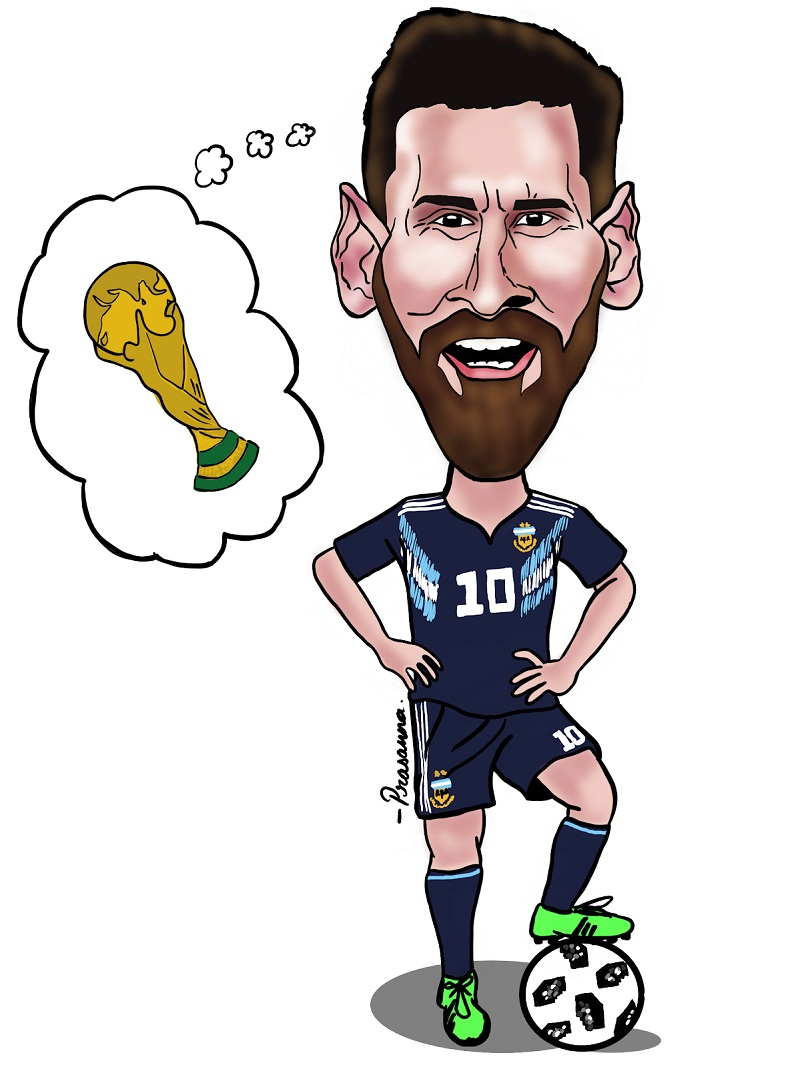 lionel messi thinks about trophy