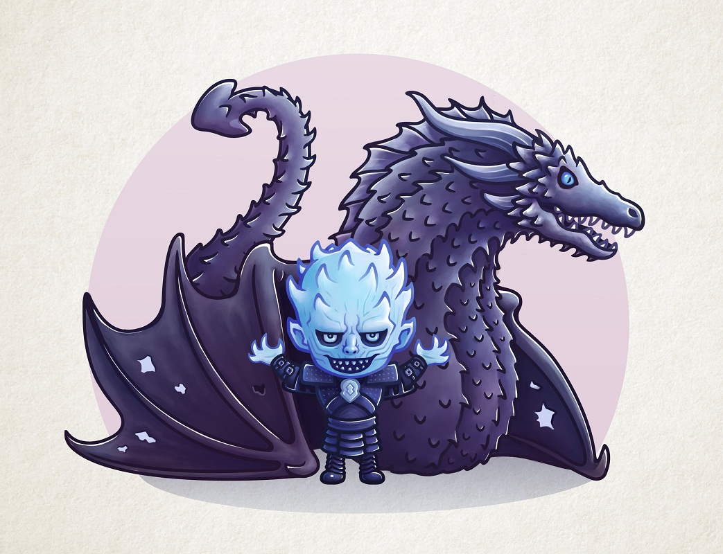 little night king and dragon