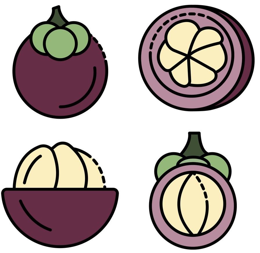 mangosteen icons