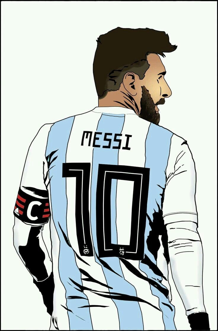 messi's back