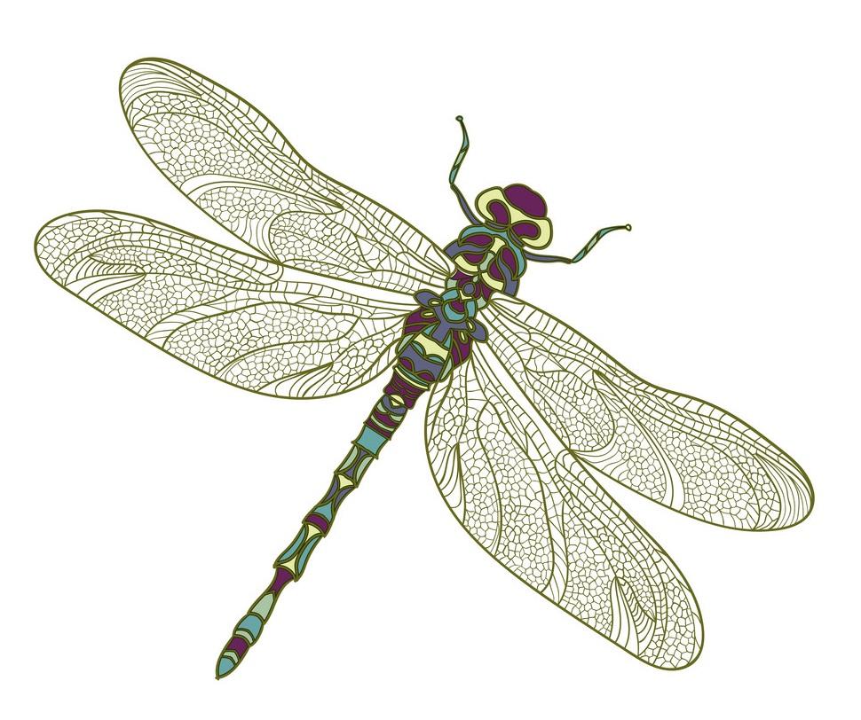 mosaic stylized dragonfly