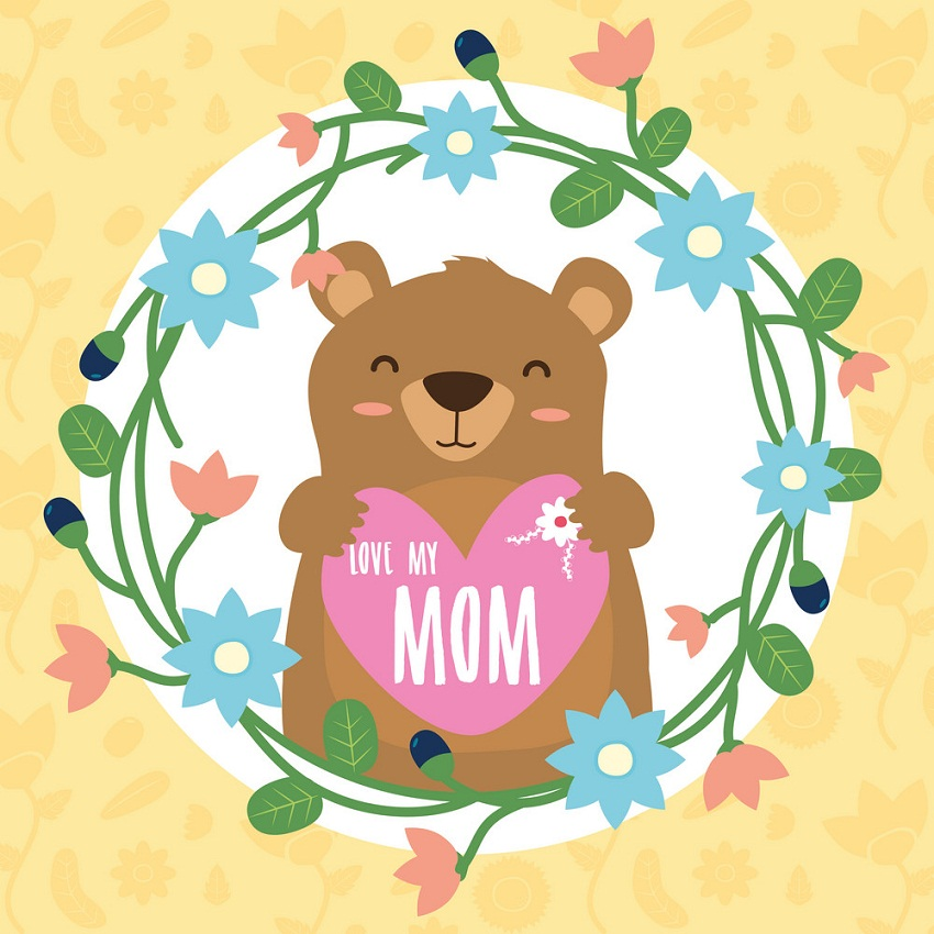 mother's day with cute bear