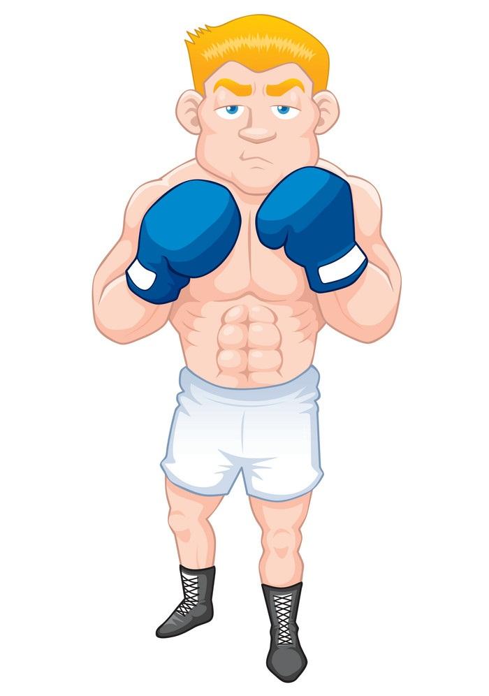 muscle boxer man