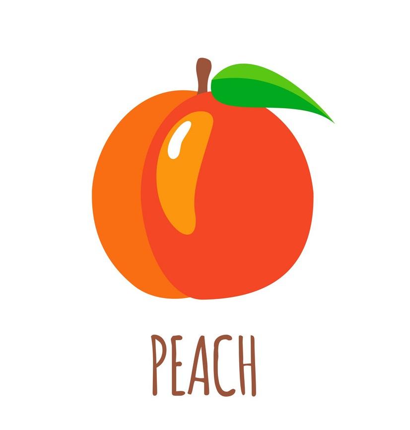 peach flat design