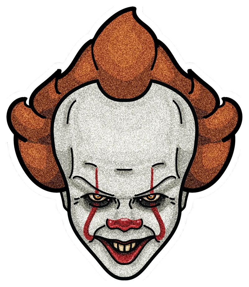 pennywise creepy face
