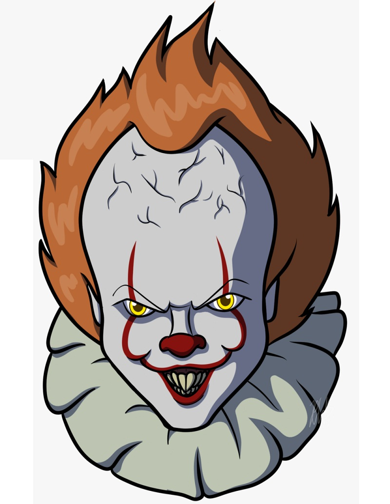 pennywise smiling face