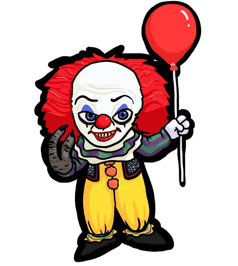 pennywise with monster hand