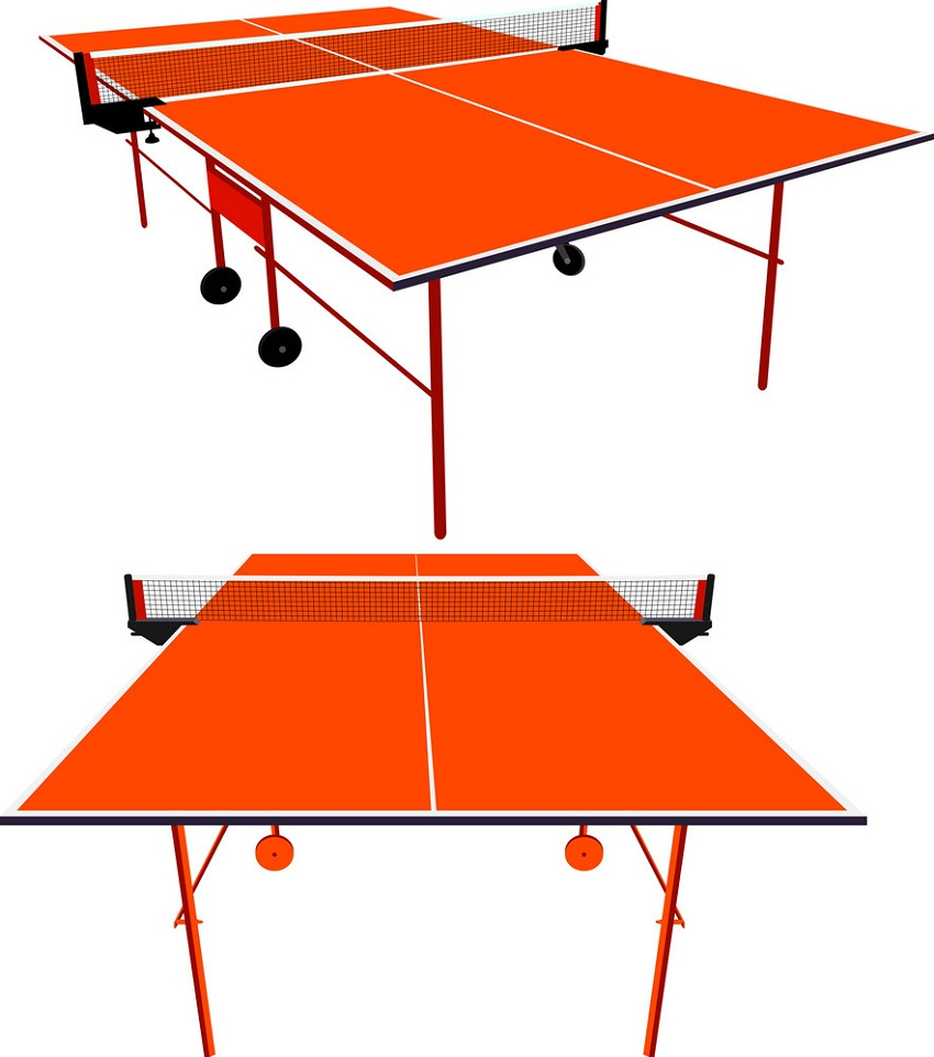 ping-pong orange table