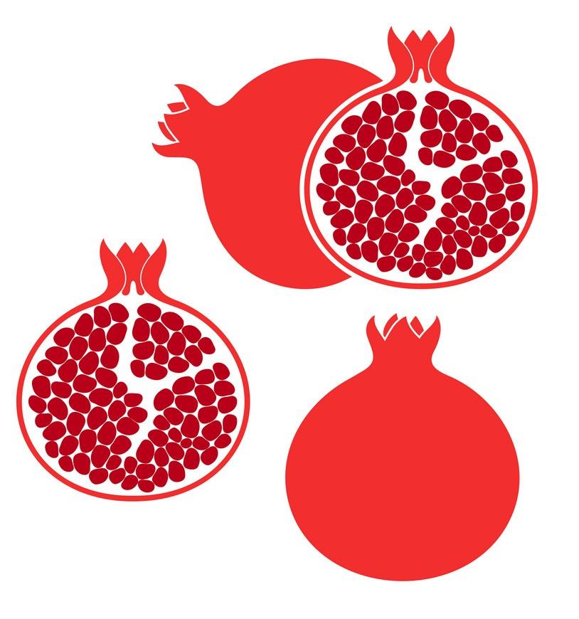 pomegranate fruit icons