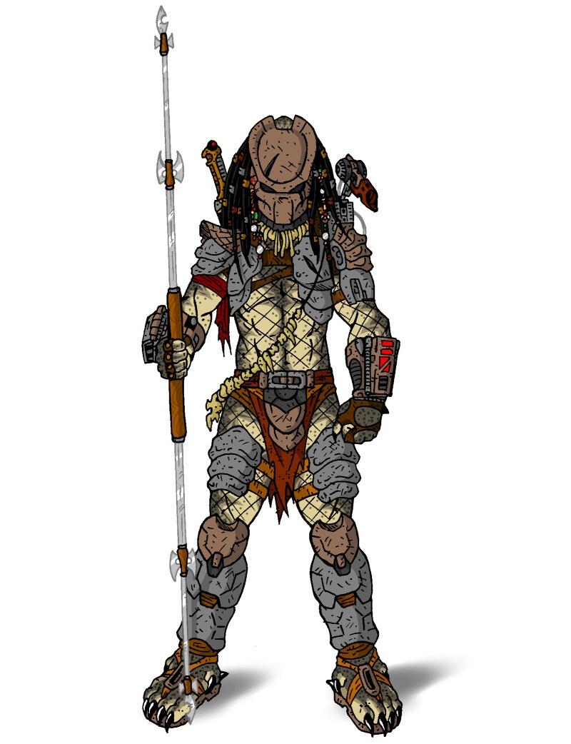 predator holding lance
