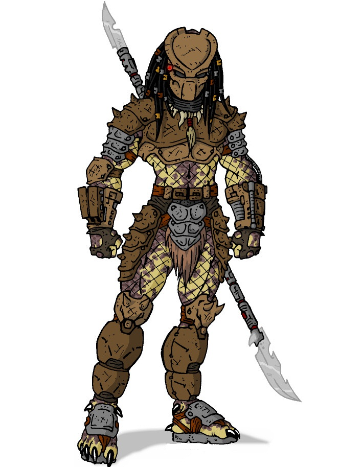predator with his lance