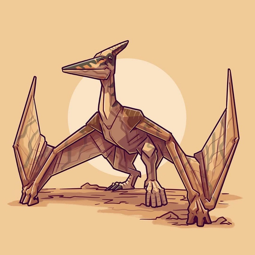 pteranodon on ground