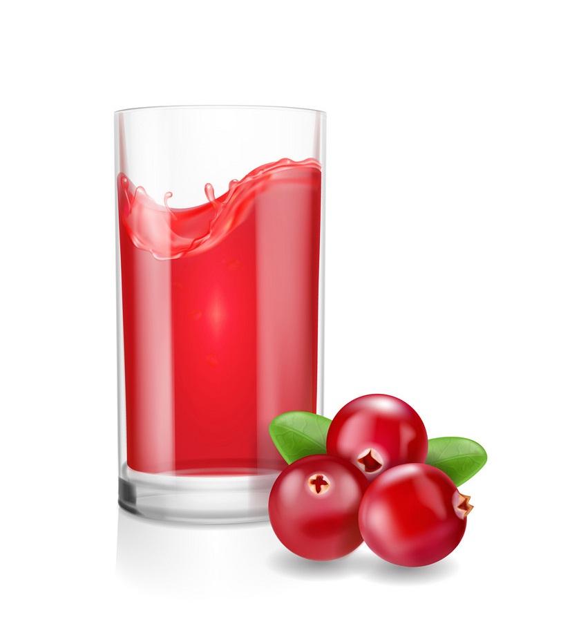 realistic cranberry juice