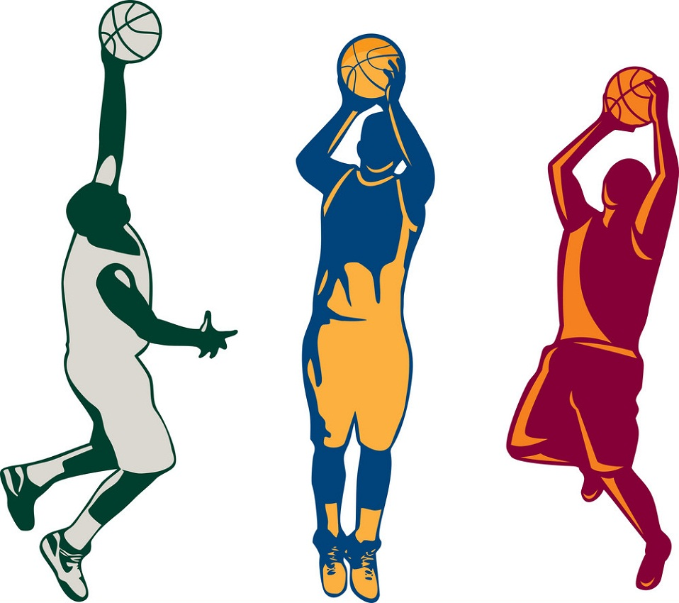 retro basketball players