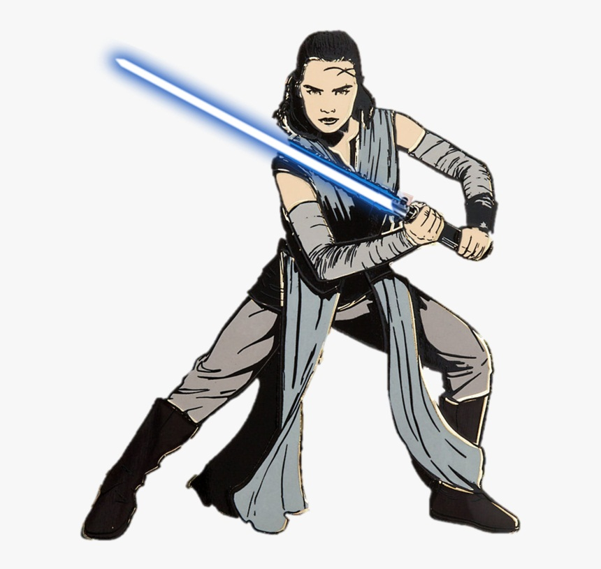 rey with light saber