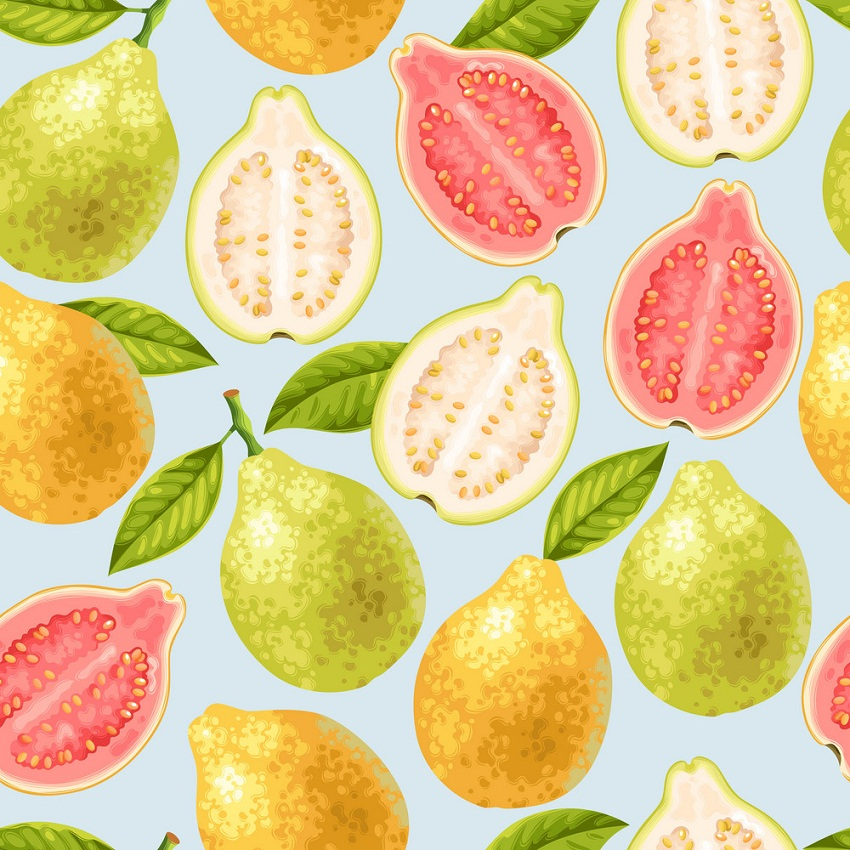seamless guava fruits