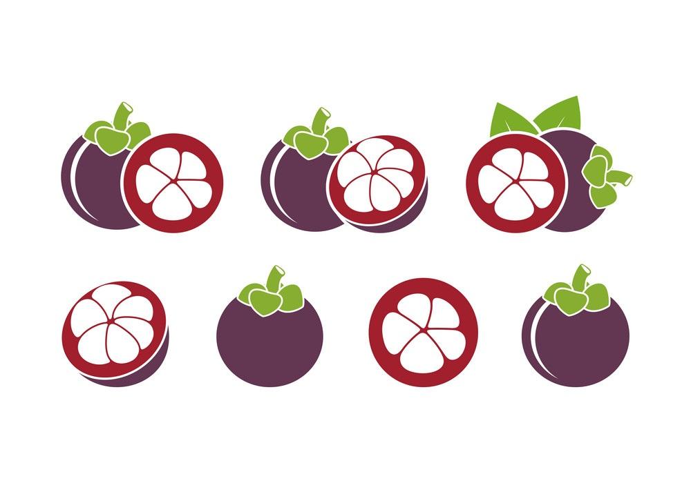 set of mangosteens icon