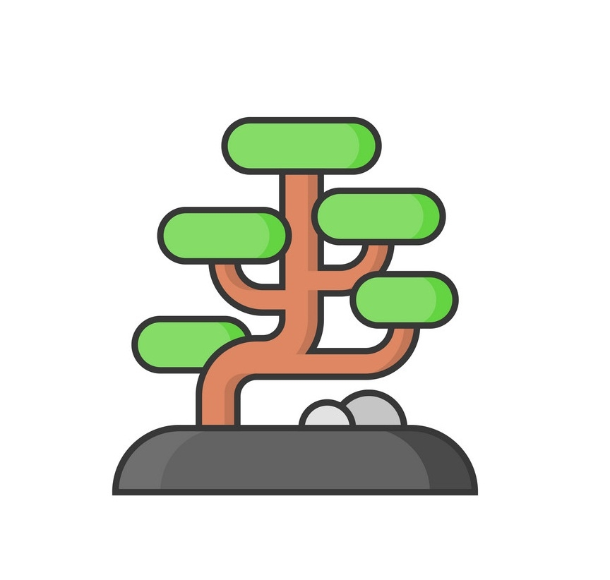 simple bonsai icon