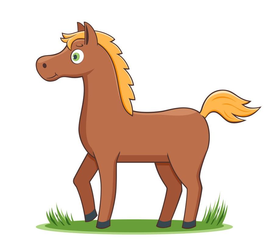 simple cartoon horse