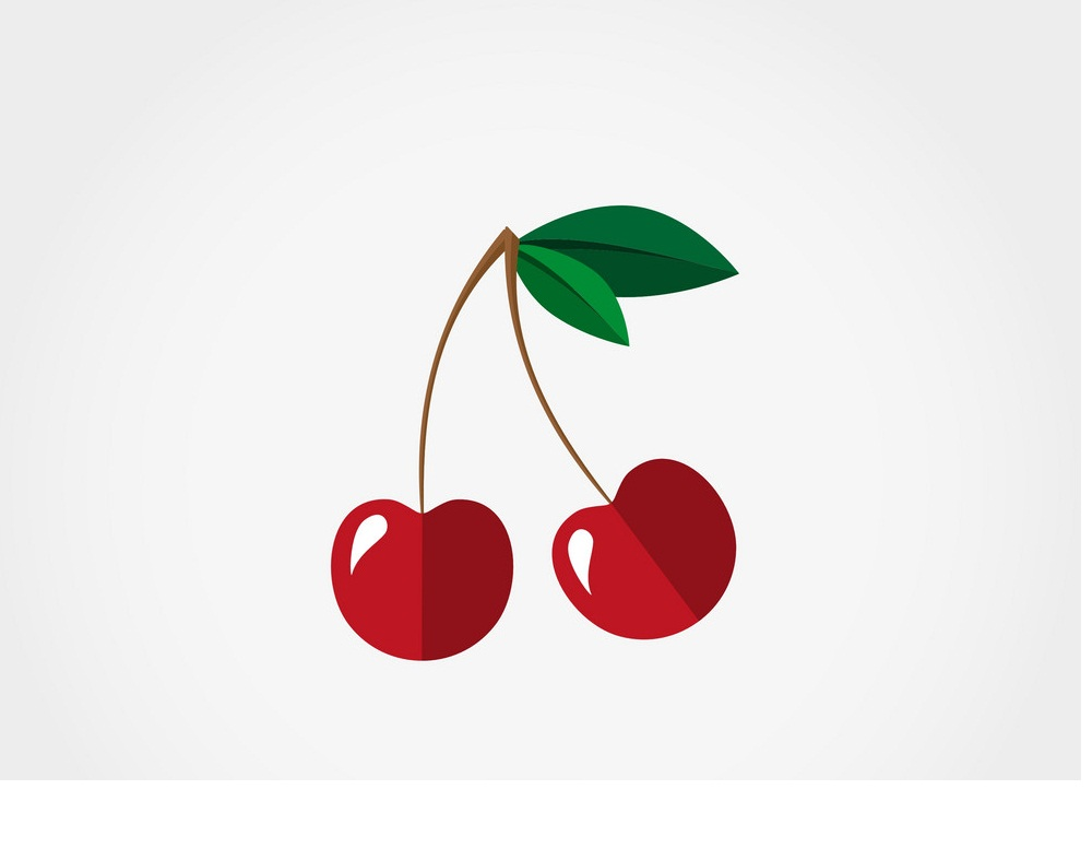 simple cherries icon