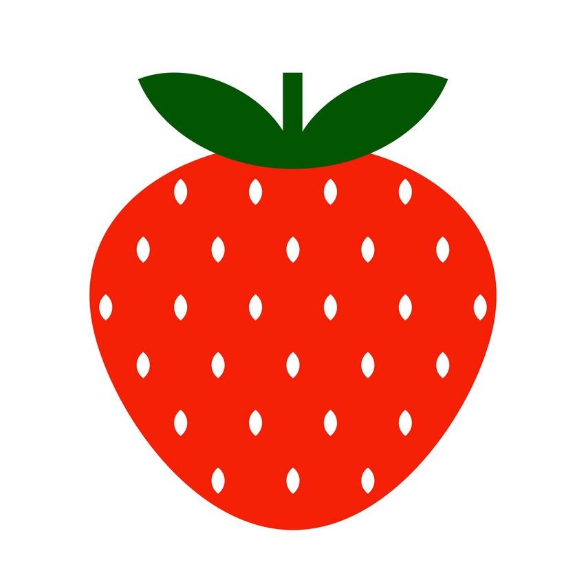 simple strawberry icon